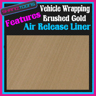 1m x 1520mm car interior exterior dashboard bodywork wrap brushed gold. Black Bedroom Furniture Sets. Home Design Ideas