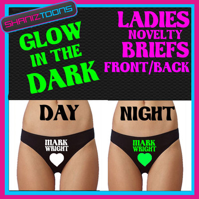 Ladies Knickers Briefs Love Mark Wright Funny Novelty Glow
