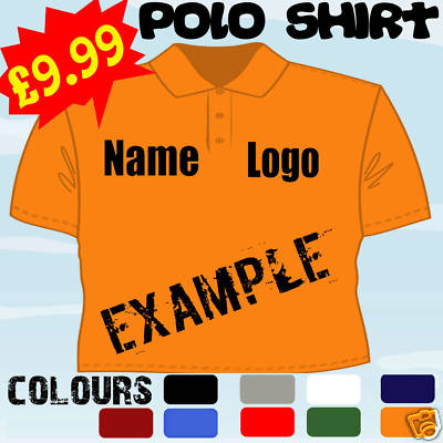 Personalised business work logo embroidered polo shirt for Polo work shirts with company logo