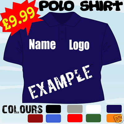 Personalised business work logo embroidered polo shirt for Work polo shirts with logo